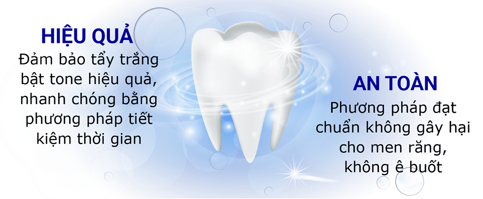 Tẩy trắng răng an toàn và hiệu quả tại nha khoa stone